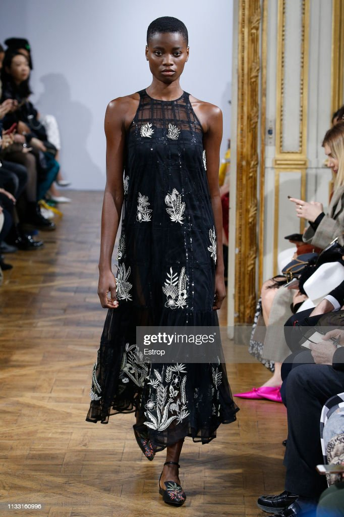 model-walks-the-runway-at-the-rahul-mishra-show-at-paris-fashion-week-picture-id1133160996