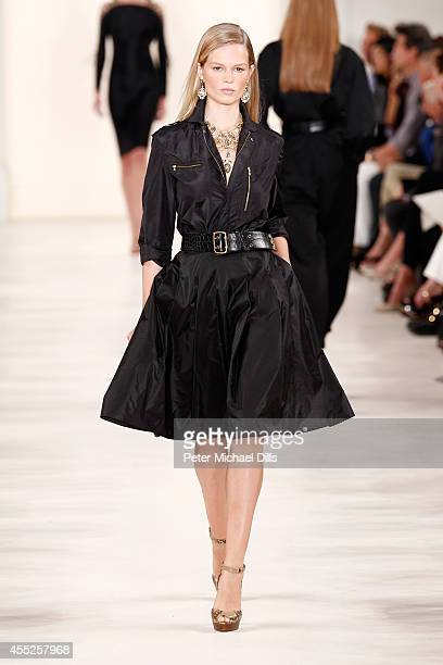 A model walks the runway at the Ralph Lauren fashion show during MercedesBenz Fashion Week Spring 2015 at Skylight Clarkson SQ on September 11 2014...