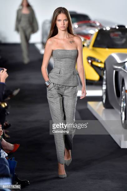 A model walks the runway at the Ralph Lauren Spring Summer 2018 fashion show during New York Fashion Week on September 12 2017 in New York United...