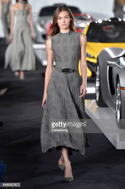 aefa80f16b7 A model walks the runway at the Ralph Lauren Spring Summer 2018 fashion show  during New