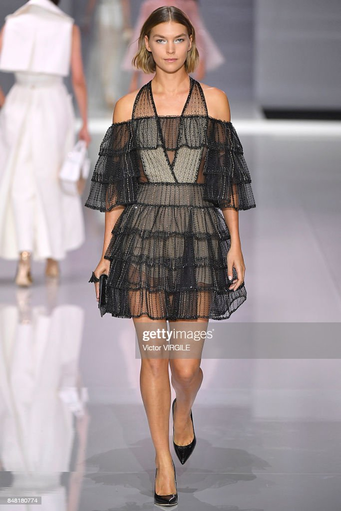 A model walks the runway at the Ralph & Russo Ready to Wear Spring/Summer 2018 fashion show during London Fashion Week September 2017 on September 15, 2017 in London, England.