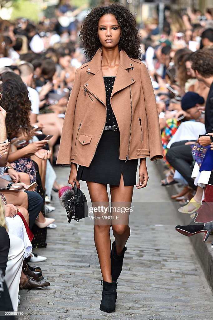 A model walks the runway at the Rebecca Minkoff Ready to Wear Spring Summer 2017 fashion show during September 2016 - New York Fashion Week on September 10, 2016 in New York City.