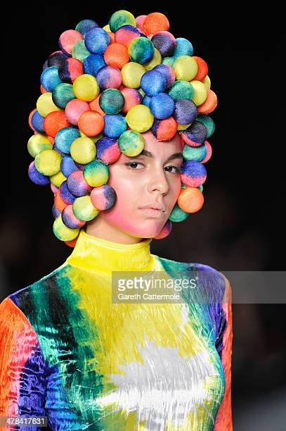 A model walks the runway at the Red Beard show during MBFWI presented by American Express Fall/Winter 2014 on March 13 2014 in Istanbul Turkey