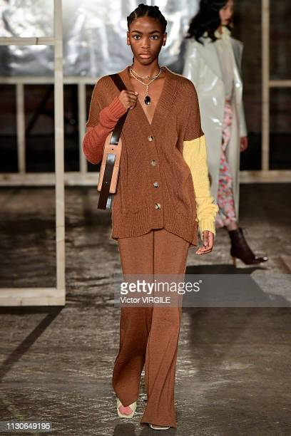 A model walks the runway at the Rejina Pyo Ready to Wear Fall/Winter 20192020 fashion show during London Fashion Week February 2019 at the on...