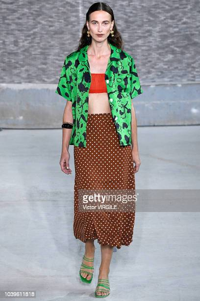 A model walks the runway at the REJINA PYO Ready to Wear Spring/Summer 2019 fashion show during London Fashion Week September 2018 on September 17...