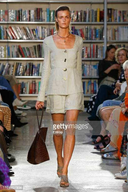 A model walks the runway at the Rejina Pyo show during London Fashion Week September 2019 on September 14 2019 in London England
