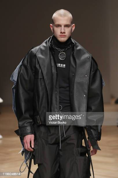 A model walks the runway at the Reshake fashion show on January 13 2020 in Milan Italy