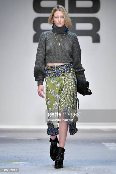 A model walks the runway at the Riani show during the MBFW Berlin January 2018 at ewerk on January 16 2018 in Berlin Germany