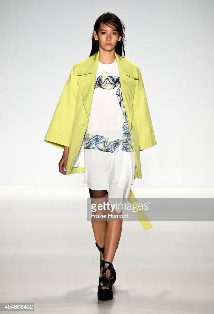 A model walks the runway at the Richard Chai LOVE Men's fashion show during MercedesBenz Fashion Week Spring 2015 at The Salon at Lincoln Center on...