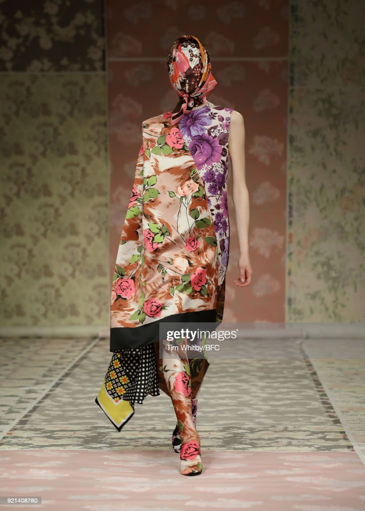 Richard Quinn - Runway - LFW February 2018