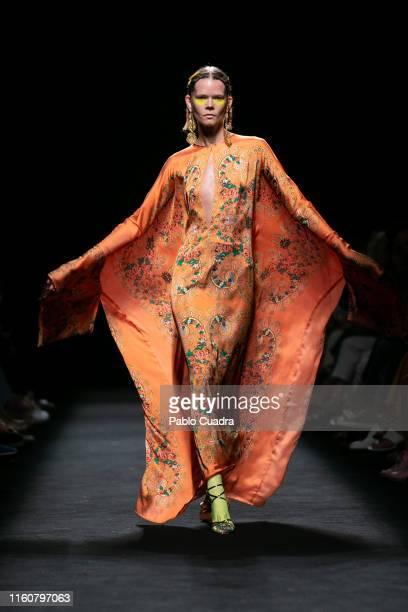 A model walks the runway at the Roberto Diz fashion show during the Mercedes Benz Fashion Week Spring/Summer 2020 at Ifema on July 08 2019 in Madrid...