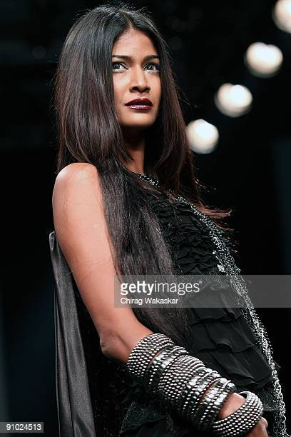 A model walks the runway at the Rocky S show at Lakme Fashion Week Spring/Summer 2010 held at Hotel Grand Hyatt on September 20 2009 in Mumbai India
