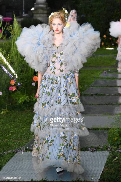 Model walks the runway at the Rodarte show during New York Fashion Week: The Shows on September 9, 2018 in New York City.