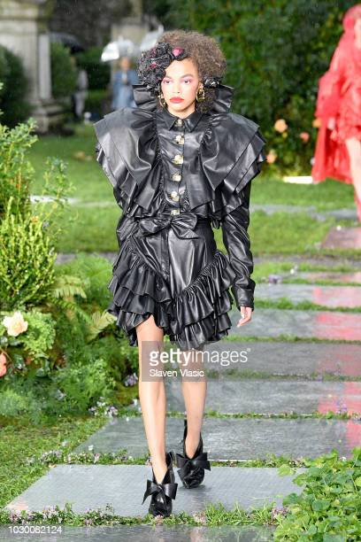 A model walks the runway at the Rodarte show during New York Fashion Week The Shows on September 9 2018 in New York City