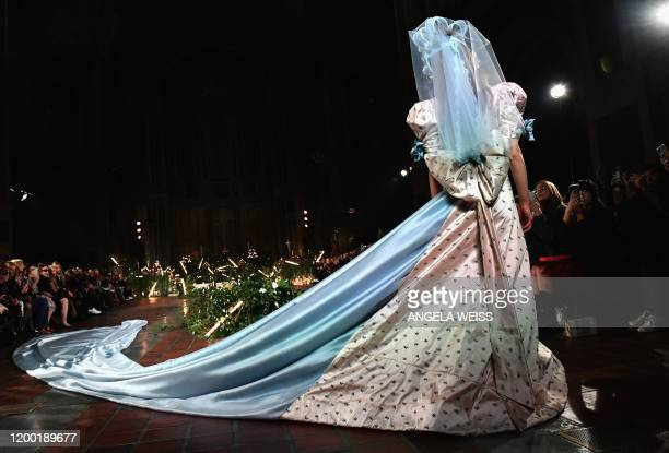 Model walks the runway at the Rodarte show during New York Fashion Week: The Shows on February 11, 2020 in New York City.