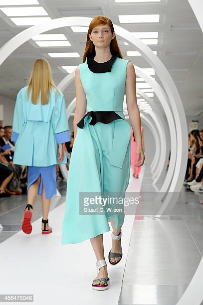 A model walks the runway at the Roksanda Ilincic show during London Fashion Week Spring Summer 2015 on September 15 2014 in London England