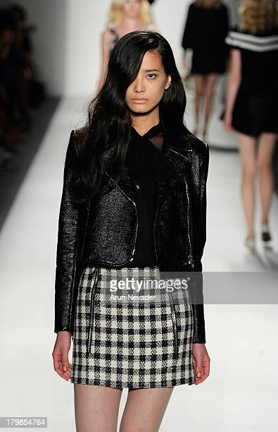 A model walks the runway at the Ruffian fashion show during MercedesBenz Fashion Week Spring 2014 at The Studio at Lincoln Center on September 7 2013...