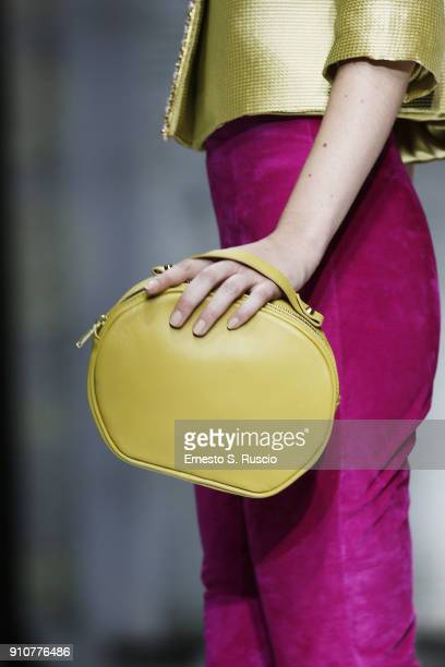 A model walks the runway at the Sabrina Persechino show during Altaroma on January 26 2018 in Rome Italy