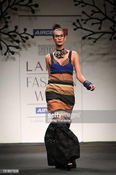 63894153c79 A model walks the runway at the Sabyasachi Mukherjee show at Lakme Fashion  Week Summer/