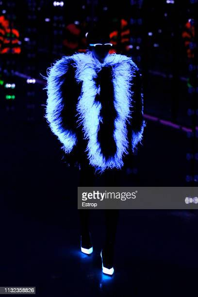 Model walks the runway at the Saint Laurent show at Paris Fashion Week Autumn/Winter 2019/20 on February 26, 2019 in Paris, France.