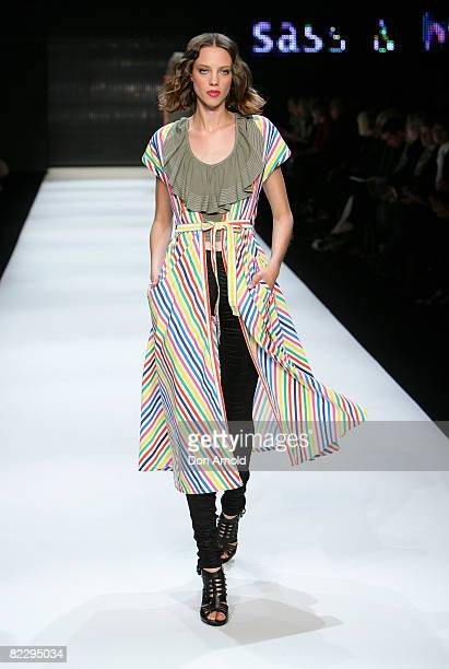 Model walks the runway at the Sass and Bide showcase of the David Jones group show during the inaugural Rosemount Sydney Fashion Festival 2008 at...