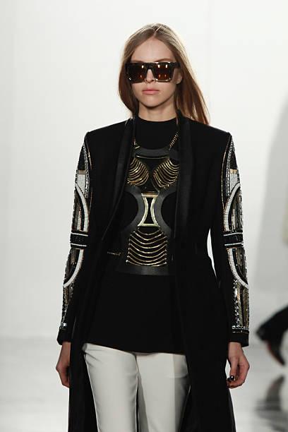 A model walks the runway at the sass   bide show during London Fashion Week  Fall d230ffe8e