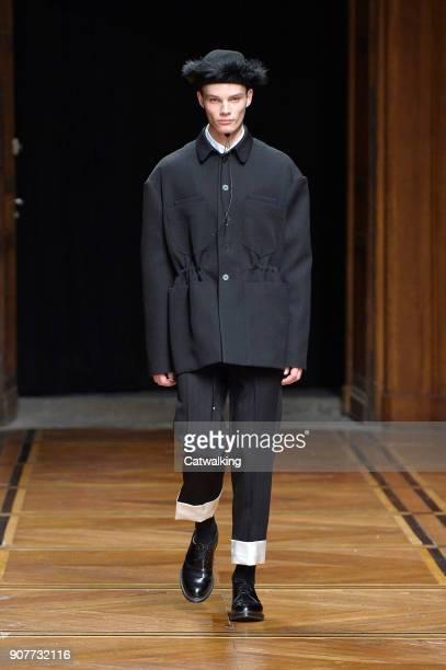 e065c07cd5d A model walks the runway at the Sean Suen Autumn Winter 2018 fashion show  during Paris