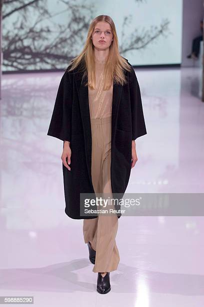 Model walks the runway at the Selected Femme/Homme fashion show during the Bread & Butter by Zalando at arena Berlin on September 3, 2016 in Berlin,...