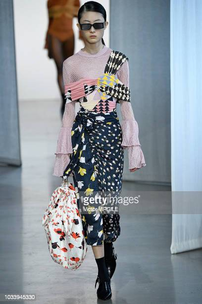A model walks the runway at the SelfPortrait Spring/Summer 2019 fashion show during New York Fashion Week on September 8 2018 in New York City