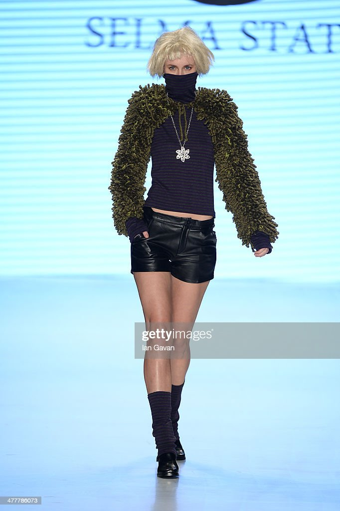 A model walks the runway at the Selma State show during MBFWI presented by American Express Fall/Winter 2014 on March 11, 2014 in Istanbul, Turkey.