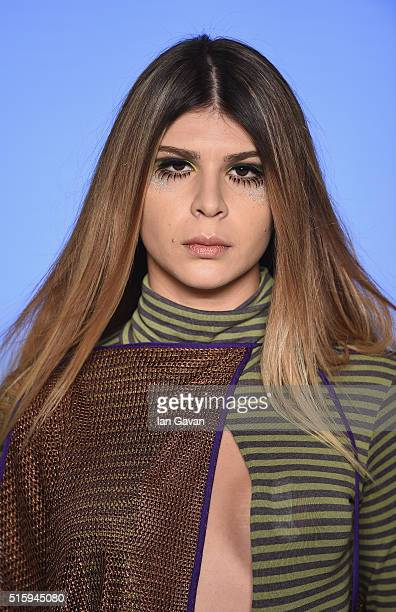 A model walks the runway at the Selma State show during the MercedesBenz Fashion Week Istanbul Autumn/Winter 2016 at Zorlu Center on March 16 2016 in...