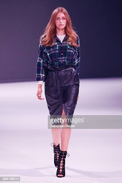 Model walks the runway at the Set fashion show during the Bread & Butter by Zalando at arena Berlin on September 4, 2016 in Berlin, Germany.