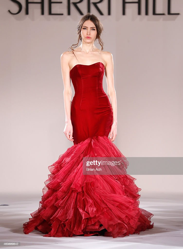 c77f2974b1 Sherri Hill - Runway - Mercedes-Benz Fashion Week Fall 2015   News Photo