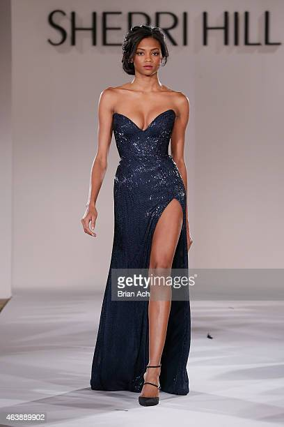 af469191a6 A model walks the runway at the Sherri Hill fashion show during MercedesBenz  Fashion Week Fall