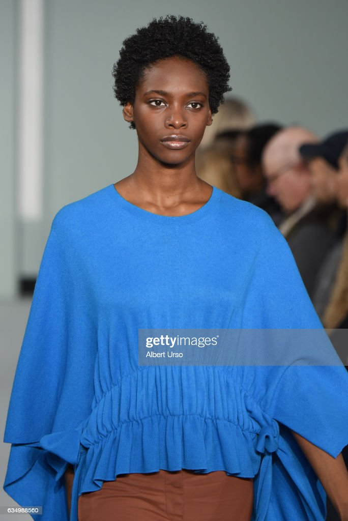 A model walks the runway at the Sies Marjan fashion show during New York Fashion Week on February 12, 2017 in New York City.