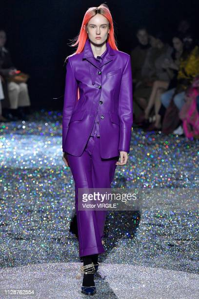 A model walks the runway at the Sies Marjan Ready to Wear Fall/Winter 20192020 fashion show during New York Fashion Week on February 10 2019 in New...