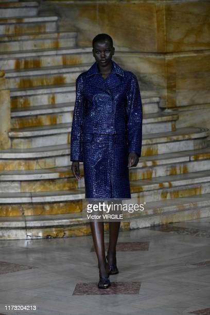 Model walks the runway at the Sies Marjan Ready to Wear Spring/Summer 2020 during New York Fashion Week on September 08, 2019 in New York City.