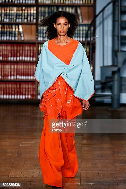 A model walks the runway at the Sies Marjan show on September 11 2016 in New York City