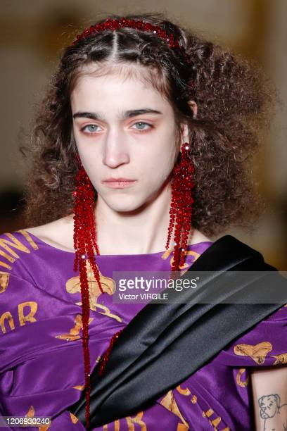 A model walks the runway at the Simone Rocha Ready to Wear Fall/Winter 20202021 fashion show during London Fashion Week on February 16 2020 in London...
