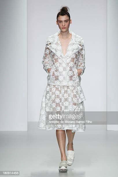 A model walks the runway at the Simone Rocha show during London Fashion Week SS14 on September 17 2013 in London England