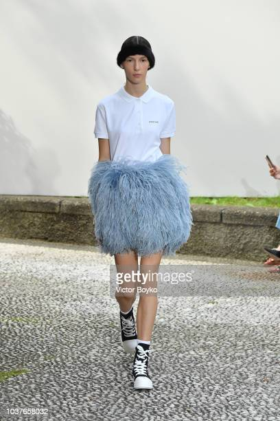A model walks the runway at the Simonetta Ravizza show during Milan Fashion Week Spring/Summer 2019 on September 22 2018 in Milan Italy