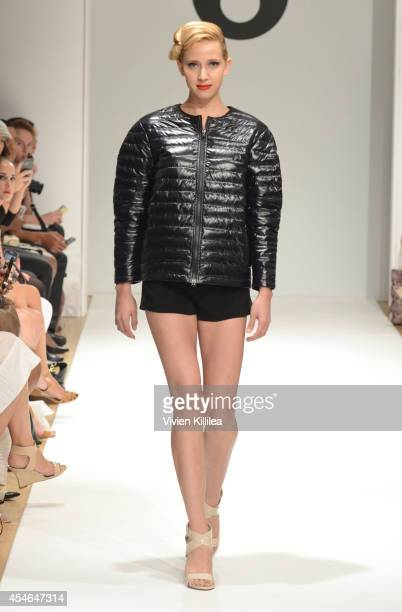 A model walks the runway at the Snowman fashion show during MercedesBenz Fashion Week Spring 2015 at the Helen Mills Event Space on September 4 2014...