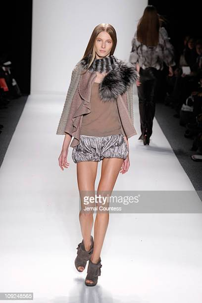A model walks the runway at the Son Jung Wan Fall 2011 fashion show during MercedesBenz Fashion Week at The Studio at Lincoln Center on February 17...