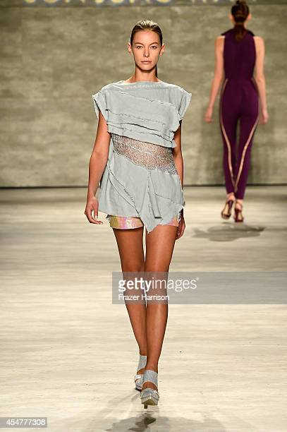 A model walks the runway at the Son Jung Wan fashion show during MercedesBenz Fashion Week Spring 2015 at The Pavilion at Lincoln Center on September...