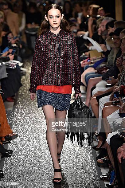 A model walks the runway at the Sonia Rykiel Spring Summer 2016 fashion show during Paris Fashion Week on October 5 2015 in Paris France