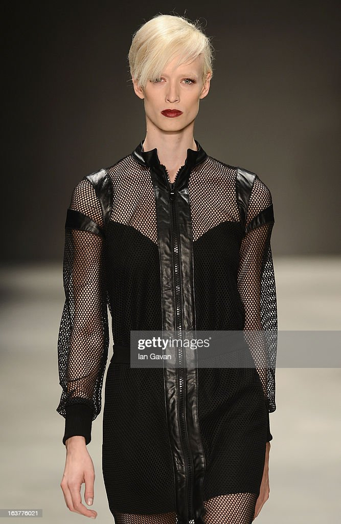 A model walks the runway at the Soul By Ozgur Masur show during Mercedes-Benz Fashion Week Istanbul Fall/Winter 2013/14 at Antrepo 3 on March 15, 2013 in Istanbul, Turkey.
