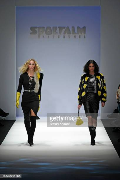 A model walks the runway at the Sportalm Kitzbuehel show during the Berlin Fashion Week Autumn/Winter 2019 at ewerk on January 16 2019 in Berlin...