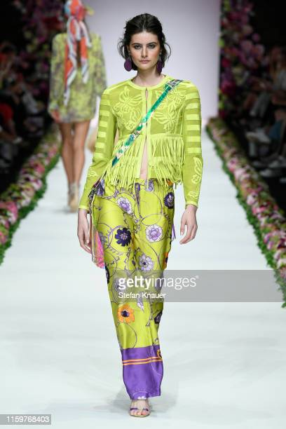 A model walks the runway at the Sportalm Kitzbuehel show during the Berlin Fashion Week Spring/Summer 2020 at ewerk on July 03 2019 in Berlin Germany
