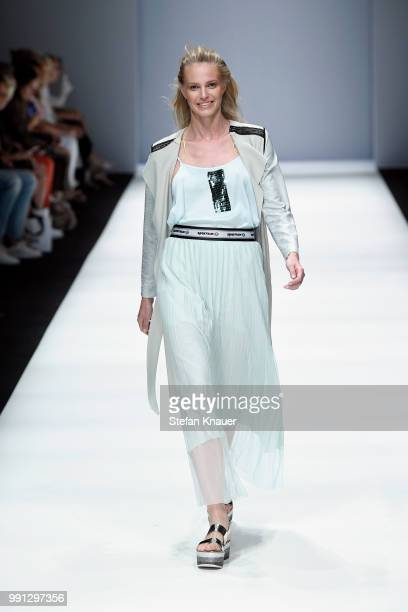 A model walks the runway at the Sportalm Kitzbuehel show during the Berlin Fashion Week Spring/Summer 2019 at ewerk on July 4 2018 in Berlin Germany