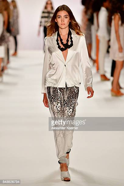 A model walks the runway at the Sportalm show during the MercedesBenz Fashion Week Berlin Spring/Summer 2017 at Erika Hess Eisstadion on June 29 2016...